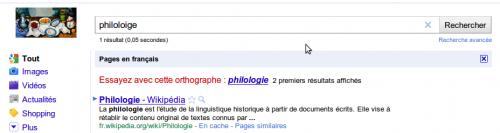 Exemple sur Google